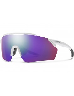 Smith Bril Ruckus Matte White Chromapop Violet Mirror